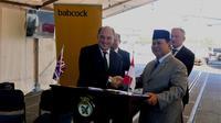 Menteri Pertahanan Indonesia dan Inggris: Prabowo Subianto dan Ben Wallace di London. Dok: Kedubes Inggris di Jakarta
