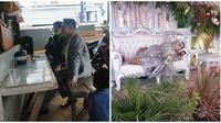 Viral video pasangan pengantin santai di acara pernikahan. (Sumber: TikTok/@ridahariani)