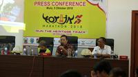 Jumpa pers Toraja Marathon 2018 di Makassar, Jumat (5/10/2018). (Bola.com/Abdi Satria)