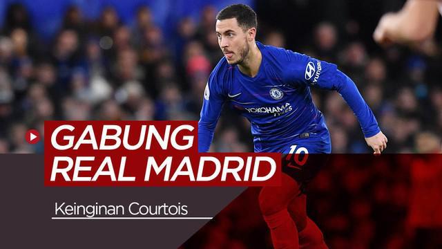 Berita video Thibaut Courtois sangat ingin kembali bermain bersama Eden Hazard di Real Madrid.