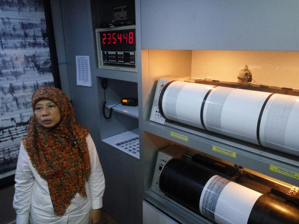 Penjelasan kondisi terkini Gunung Merapi yang meningkat (Liputan6.com / Switzy Sabandar)