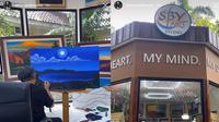 Studio lukis SBY. (Tangkapan Layar Instagram Story @annisayudhoyono)
