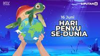 16 Juni Hari Penyu Sedunia, Selamatkan Penyu dari Ancaman Sampah Laut