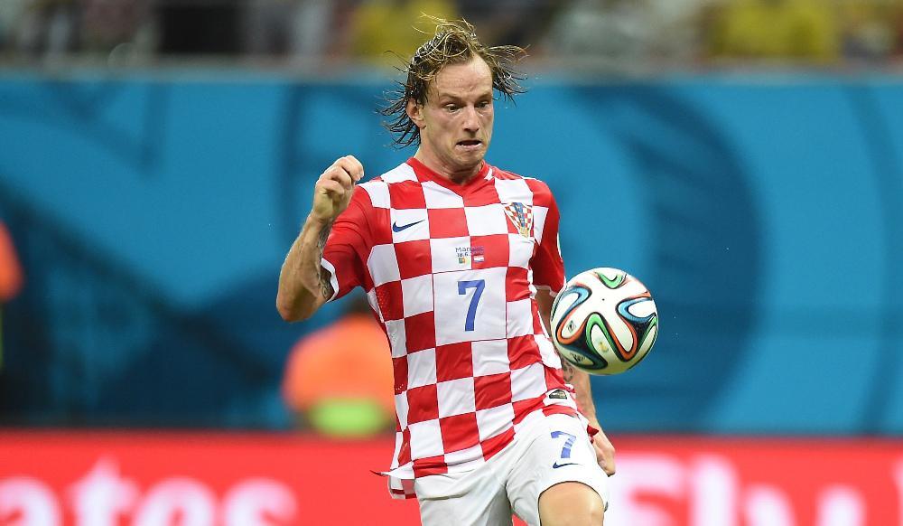 Bintang tim nasional Kroasia, Ivan Rakitic. (AFP/Javier Soriano).