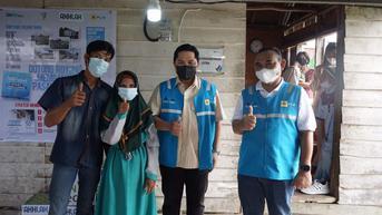 500 Keluarga di Palembang Dapat Penyambungan Listrik Gratis, Diresmikan Menteri Erick Thohir