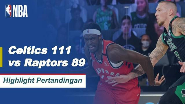 Berita Video Highlights NBA, Boston Celtics Kalahkan Toronto Raptors 111-89