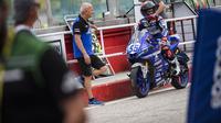 Galang Hendra finis di posisi empat pada WSSP300 Misano yang berlangsung 23 Juni (dok: Yamaha)