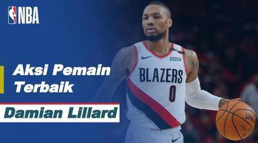 Berita video bintang Portland Trail Blazers, Damian Lillard, menjadi sorotan di NBA hari ini, Jumat (8/1/2021) WIB.