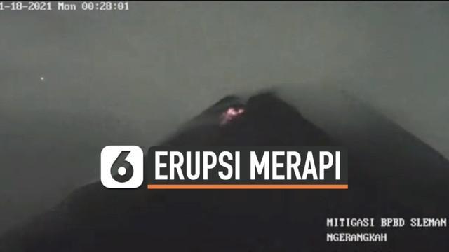 Aktivitas Gunung Merapi kembali terdeteksi sejak Senin (18/1) dini hari. Guguran lava pijar dan awan panas terpantau dari puncak gunung tersebut.