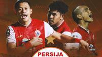 Persija Jakarta - Taufik Hidayat, Braif Fatari, Riko Simanjuntak (Bola.com/Adreanus Titus)