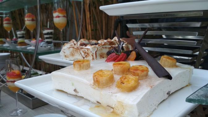Banana Cake dibuat khusus bagi para vegetarian atau alergi telur dan protein. Foto (Liputan6,com / Panji Prayitno)