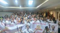 Relawan buruh sahabat Jokowi mendeklarasikan dukungan di Kepulauan Riau. (Istimewa)