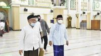 Wali Kota  Gorontalo  beserta jajaran saat meninjau masjid Agung Baiturrahim (Arfandi Ibrahim/Liputan6.com)
