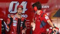 Pembalap Ducati, Andrea Dovizioso. (PIERRE-PHILIPPE MARCOU/AFP)