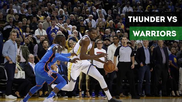 Berita video Warriors mengalahkan Oklahoma City Thunder 108-100 pada laga hari pertama NBA 2018-2019 di Oracle Arena, Rabu (17/10/2018) pagi WIB.