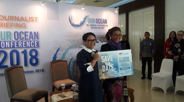 Indonesia dipercaya menjadi tuan rumah pertemuan Our Ocean Conference (OOC) 2018 yang akan diselenggarakan di Bali pada 29-30 Oktober 2018. Liputan6.com/Bawono Yadika