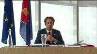 Dubes Igor Driesmans mengatakan, Uni Eropa adalah mitra ASEAN yang sangat penting dalam kerja sama pembangunan melalui dukungan terhadap kawasan ASEAN dengan dana sebesar 250 juta euro (Liputan6.com/Teddy Tri Setio Berty)
