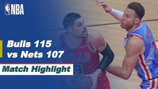 Berita video highlights NBA 2020/2021 antara Chicago Bulls melawan Brooklyn Nets yang berakhir dengan skor 115-107, Senin (5/4/2021) dinihari WIB.