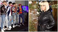 BTS dan Nicki Minaj (Foto: AFP / Alberto E. Rodriguez / GETTY IMAGES NORTH AMERICA, AFP / Jamie McCarthy / GETTY IMAGES NORTH AMERICA)