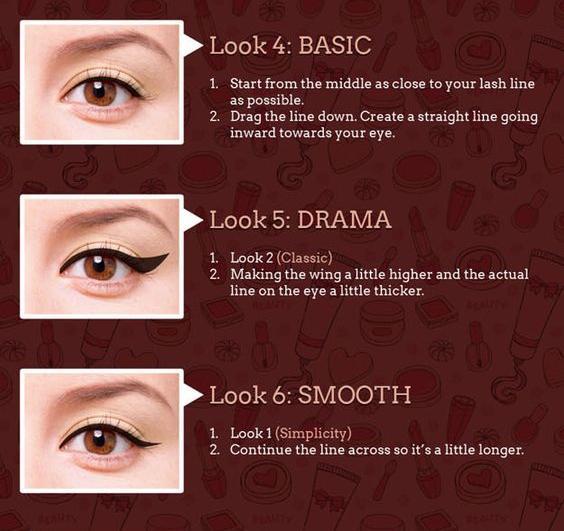 Basic, Drama, Smooth./Copyright makeuptutorials.com