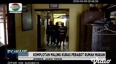 Seorang guru Bimbingan Konseling di sebuah Madrasah Aliyah di Nganjuk, Jawa Timur ditangkap polisi lantaran menjadi pengedar ganja. Sindikat pelaku pencurian rumah kosong di Jember, Jawa Timur, beraksi memanfaatkan situasi sepi akibat merebaknya waba...