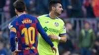 Angel Rodriguez (kanan) usai pertandingan Barcelona melawan Getafe (AFP)