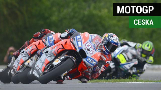 Berita video balapan MotoGP Ceska 2018, yang dimenangi Andrea Dovizioso.