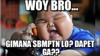 Meme SBMPTN 2018. Dok: bintang.com