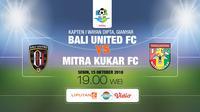 Bali United vs Mitra kukar FC