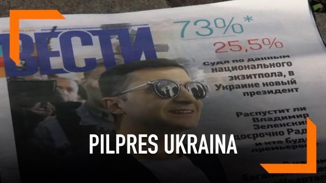 Pelawak Ukraina Volodymyr Zelenskiy berhasil meraup suara mayoritas dalam Pilpres 2019. Masyarakat Ukraina menanggapi beragam tentang hasil Pilpres ini.