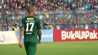 Nomor punggung 17 ternyata bukan nomor favorit David da Silva. (Bola.com/Aditya Wany)