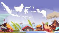 Ilustrasi bencana alam di Indonesia (Liputan6.com / Triyasni)