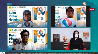 PT Bank Negara Indonesia (Persero) Tbk atau BNI dan PT Perusahaan Listrik Negara (Persero) atau PLN bersinergi menerbitkan Buku Pintar Hedging yang diluncurkan di Jakarta, Senin (12 Juli 2021) secara virtual. Dok BNI
