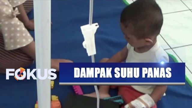 Dampak suhu panas mencapai 38 derajat celcius, 80 orang di Ngawi, Jawa Timur, masuk rumah sakit karena dehidrasi.