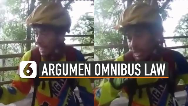 Beredar video seorang pria yang sedang menanggapi tentang UU Omnibus Law. lucunya adalah ia justru mengatakan melly goeslaw.