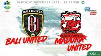 Liga 1 2018 Bali United Vs Madura United (Bola.com/Adreanus Titus)