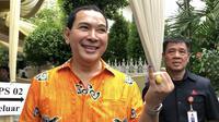 Ketua Umum Partai Berkarya Tommy Soeharto mencoblos Pemilu 2019. (LIputan6.com/ Ratu Annisaa)