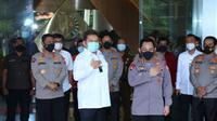 Kapolri Jenderal Listyo Sigit Prabowo berkunjung ke markas Jaksa Agung ST Burhanuddin. (Dok Humas Polri)