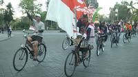 Gowes Nusantara di Denpasar berdekatan dengan perayaan HUT ke-74 RI (dok: Kemenpora)