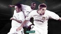 Eks Pemain Leeds United: Robbie Keane, Rio Ferdinand dan Alan Smith. (Bola.com/Dody Iryawan)