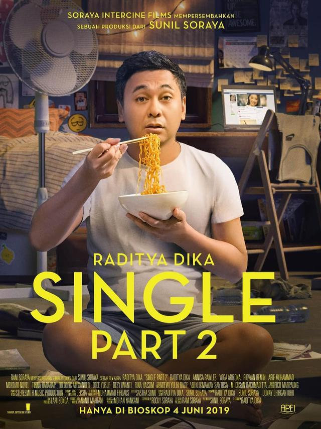 Poster film Single 2 (Instagram/ raditya_dika)