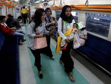 HUT RI ke-72, Naik Commuter Line Gratis