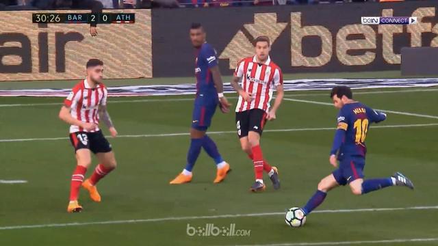Barcelona meraih kemenangan 2-0 atas Athletic Bilbao dalam lanjutan La Liga pekan ke-29, Minggu (18/3/2018). This video is presented by Ballball.