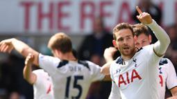Kehebatan Harry Kane sebagai striker tunggal Spurs membuat Vincent Janssen hanya tampil sebanyak 3 kali saja di Premier League musim 2018/19 lalu.  ( AFP/Ben Stansall )