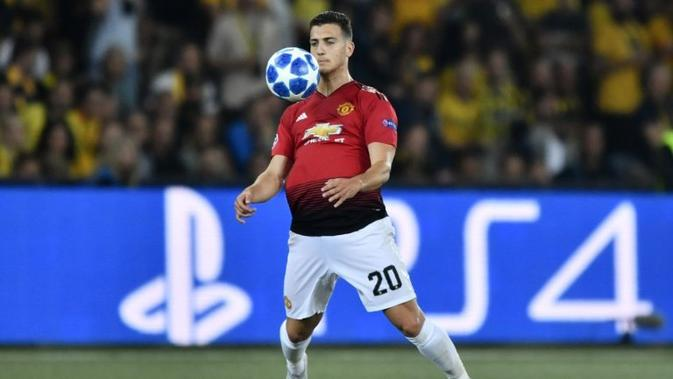 Bek Manchester United asal Portugal, Diogo Dalot. (AFP/Fabrice Coffrini)
