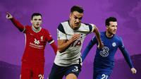 Premier League - Andrew Robertson, Sergio Reguilon, Ben Chilwell (Bola.com/Adreanus Titus)