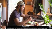 Ilustrasi seorang pria bekerja dengan laptop. (credit:shutterstock)