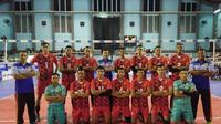 Putra TNI AU meraih tiket final PGN Livoli 2017 Divisi Utama setelah mengalahkan Indomaret Sidoarjo pada laga semifinal di GOR Dimyati, Tangerang, Banten, Kamis (7/12/2017). (Humas PBVSI)