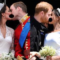 Pangeran William - Kate Middleton dan Pangeran Harry - Meghan Markle. (E! News)