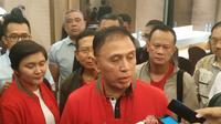 Sekretaris Utama Lembaga Pertahanan Nasional, Mochamad Iriawan, usai bertemu dan berdiskusi dengan sejumlah Asprov PSSI dan klub sepak bola di Jakarta, Rabu (17/7/2019) malam. (Ist)